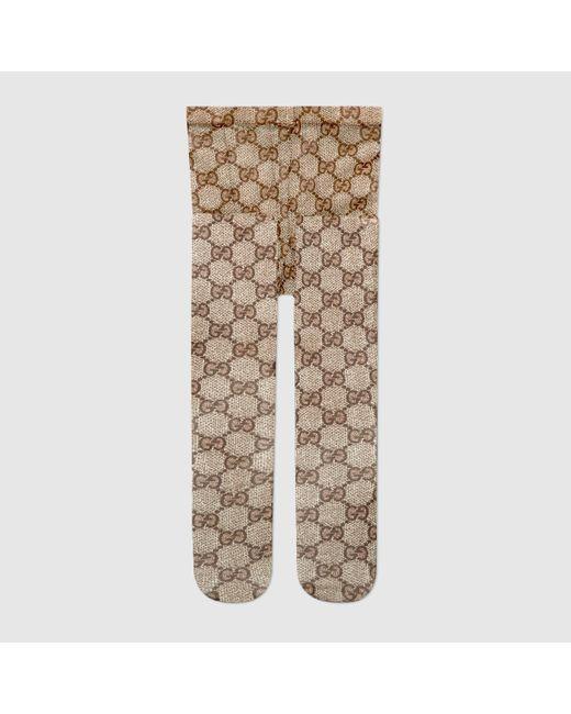 Gucci グッチGGパターン タイツ Natural