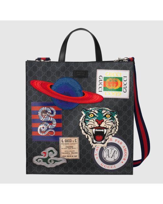 メンズ Gucci グッチ〔グッチ クーリエ〕ソフト GGスプリーム キャンバス トートバッグ Multicolor