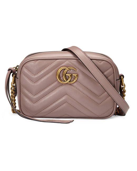Sac à épaule petite taille à motif GG Marmont matelassé Gucci en coloris Multicolor