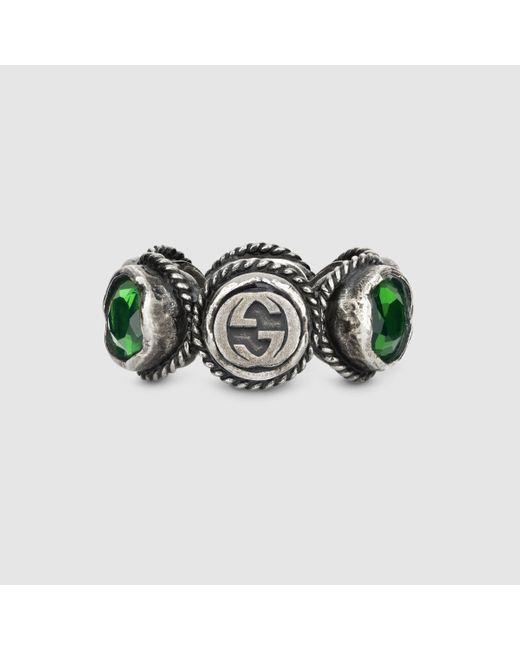 Gucci   Metallic Ring With Swarovski Crystals   Lyst