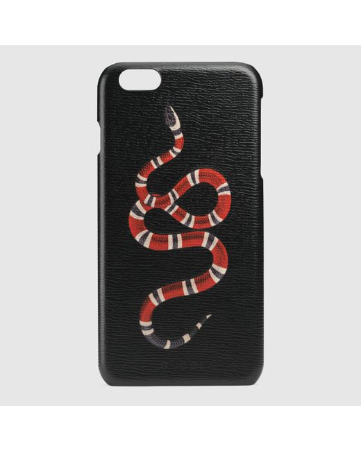 Gucci Snake Print Iphone 6 Plus Case In Black Lyst