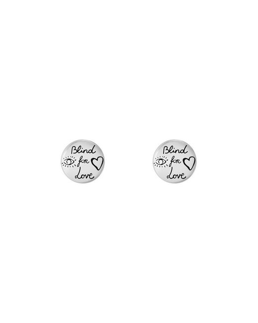 Gucci | Metallic Blind For Love Earrings In Silver | Lyst