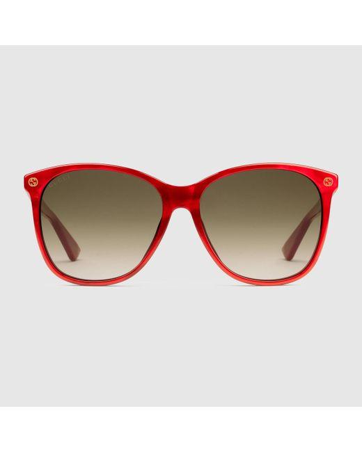 fbfa4093fa Gucci Men s Round Acetate Frame Sunglasses