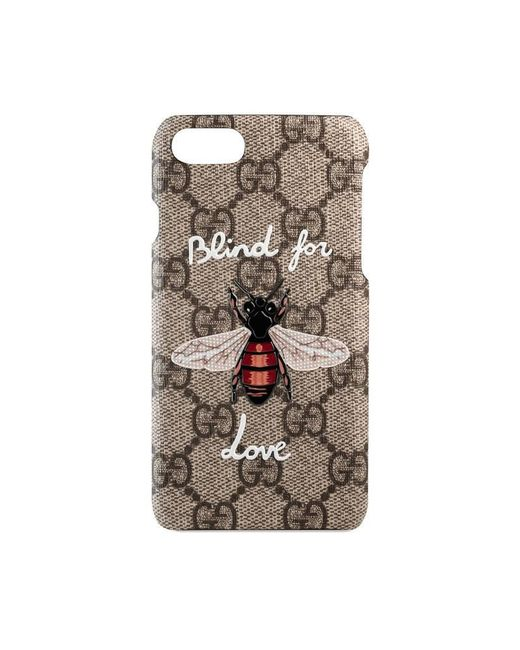 gucci iphone 7 case with bee lyst. Black Bedroom Furniture Sets. Home Design Ideas