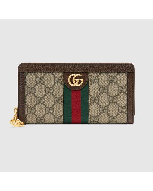 Gucci 【公式】 (グッチ)〔オフィディア〕GG ジップアラウンドウォレットGGスプリームブラウン Brown