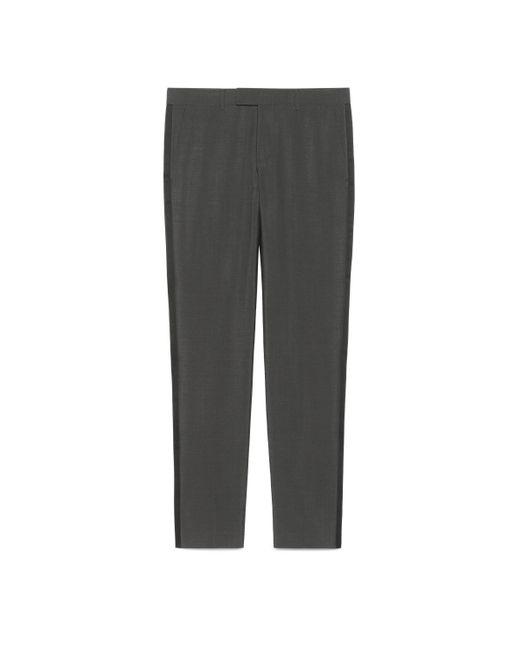 Pantalon en laine mohair Gucci pour homme en coloris Gray