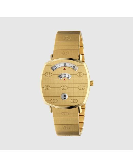メンズ Gucci グッチ〔グリップ〕ウォッチ(35 Mm) Metallic