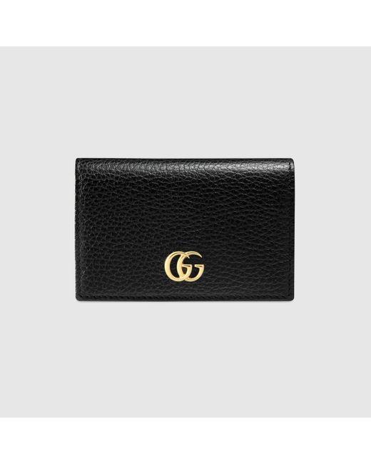 Gucci 〔プチ マーモント〕レザー カードケース Black