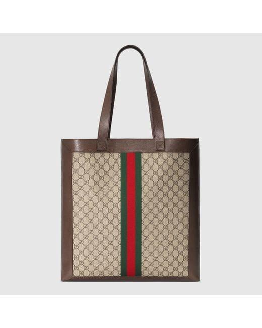 Gucci Multicolor Großer DIY Ophidia Shopper aus GG Supreme