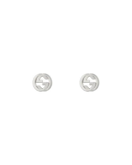 Gucci - Metallic Interlocking G Earrings In Silver - Lyst