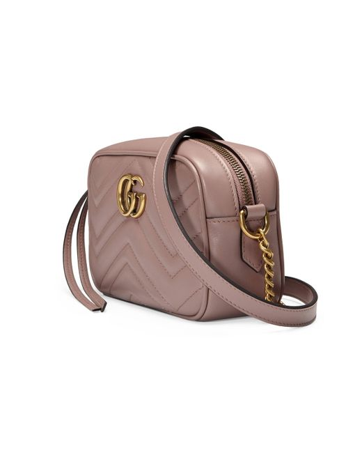 Gucci Leather Gg Marmont Mini Matelasse Camera Bag Nude Save 23 Lyst