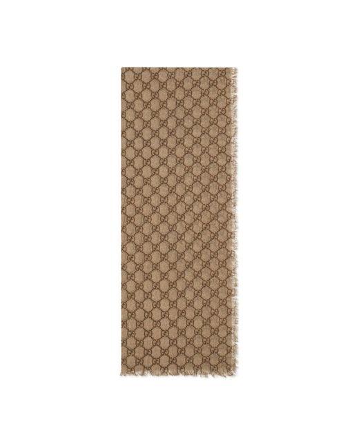 Étole en laine GG avec bande Web Gucci pour homme en coloris Natural