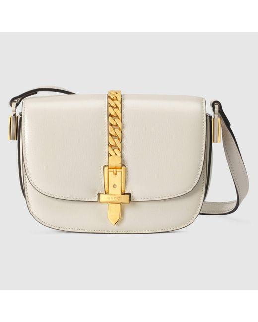 Gucci 【公式】 (グッチ)〔シルヴィ 1969〕ミニ ショルダーバッグホワイト レザーホワイト White