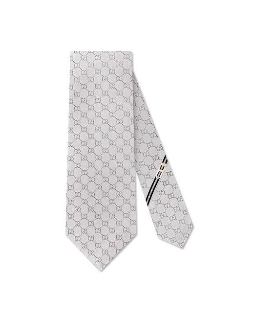 Gucci | Gray Gg Pattern Silk Tie for Men | Lyst