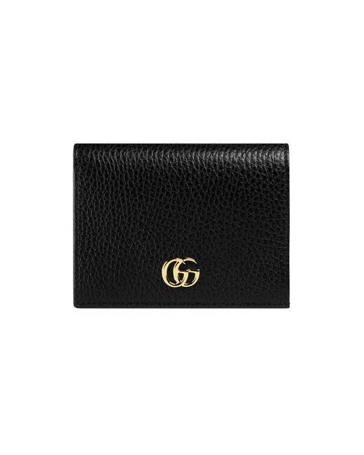 Gucci | Black Leather Card Case | Lyst