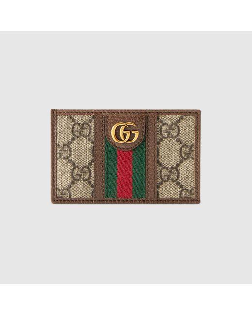 メンズ Gucci ベージュ GG オフィディア カード ホルダー Natural