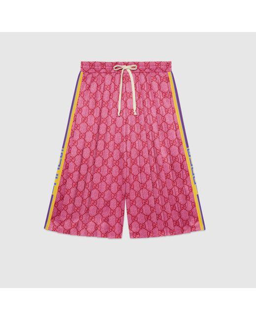 Gucci グッチGGテクニカルジャージー ショートパンツ Pink
