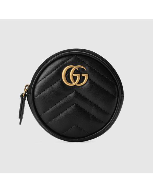 Gucci グッチ〔GGマーモント〕コインパース Black
