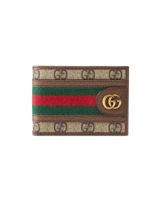 Gucci Brown GG Supreme Canvas & Leather Three Pigs Wallet for men