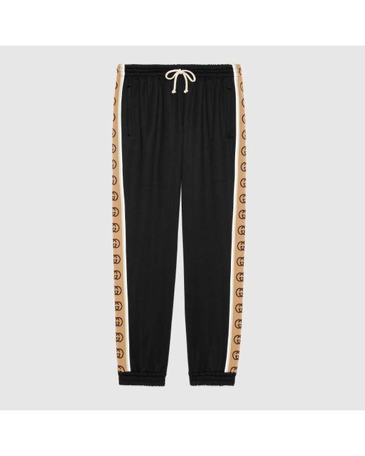 メンズ Gucci 【公式】 (グッチ)ルーズ テクニカルジャージー ジョギングパンツブラック テクニカルジャージーブラック Black