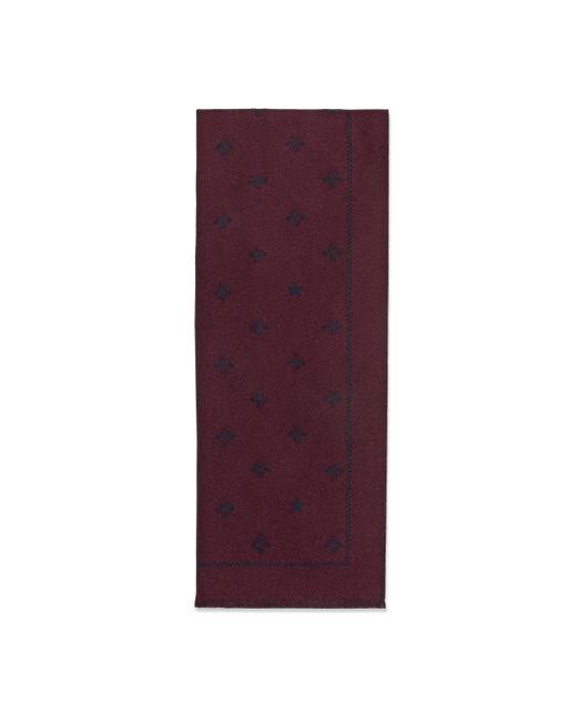 Écharpe en laine avec abeilles et étoiles Gucci pour homme en coloris Purple