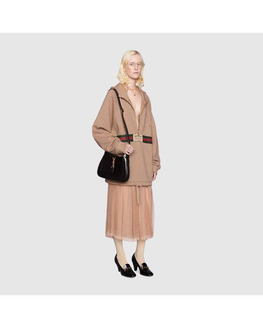 Gucci グッチシルクシフォン ミドルレングス スカート Multicolor