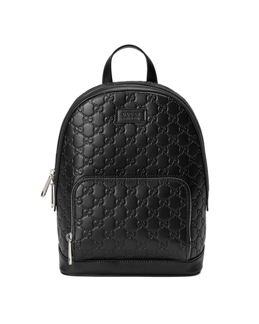 Signature leather backpack di Gucci in Black