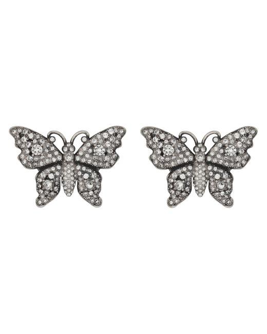Orecchini a forma di farfalla con cristalli di Gucci in Multicolor