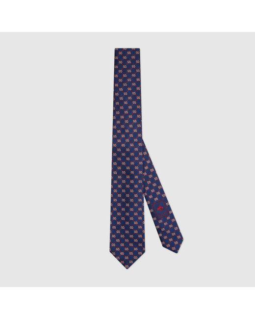 メンズ Gucci 【公式】 (グッチ)GGランバス ジャカード シルク ネクタイブルー GGランバス ジャカードブルー Blue
