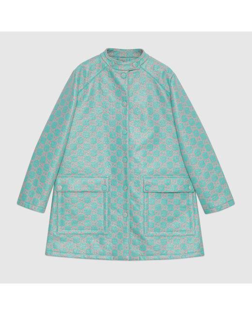 Gucci グッチウォータープルーフ GGツイード コート Blue