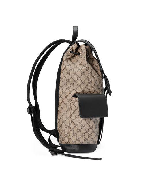 fe6395403d539d ... Gucci - Natural Soft GG Supreme Backpack for Men - Lyst ...