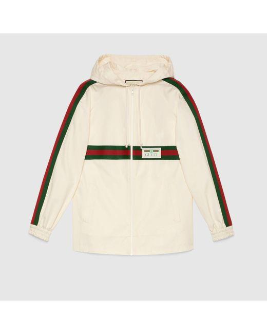 Gucci グッチ ラベル コットン ジャケット Natural