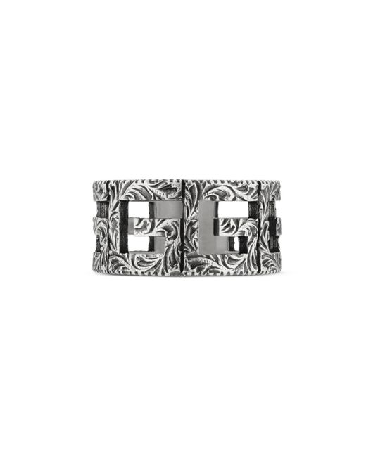 Gucci - Metallic Square G Motif Ring for Men - Lyst