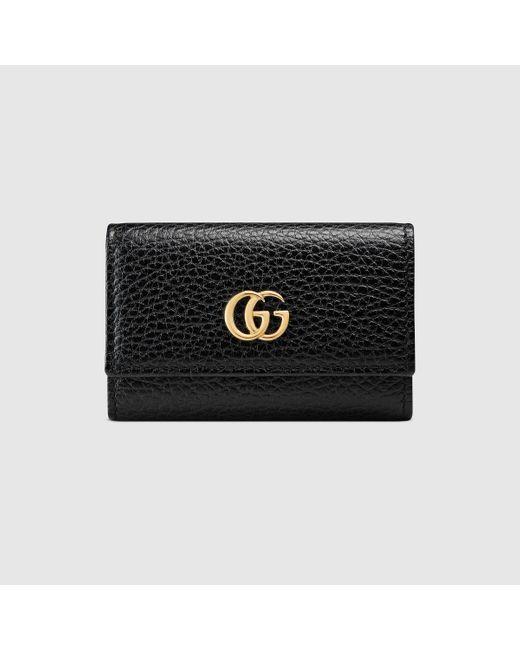 Gucci グッチ〔GG マーモント〕レザー キーケース Black