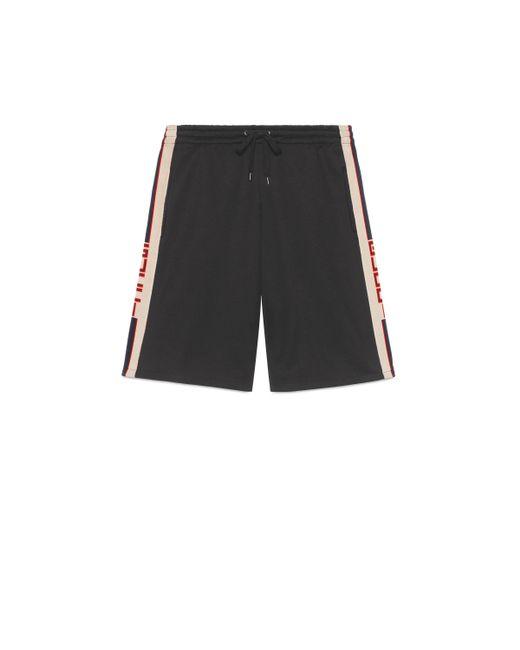 Gucci - Black Short de Punto Técnico for Men - Lyst