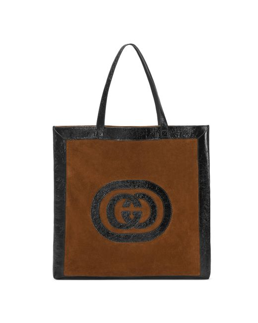 Gucci - Brown Ophidia Suede Maxi Tote for Men - Lyst