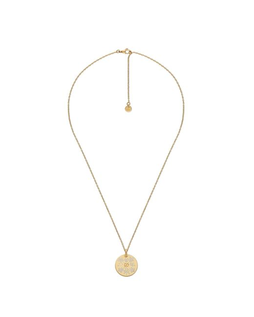 Gucci - Metallic Icon Necklace In Yellow Gold for Men - Lyst