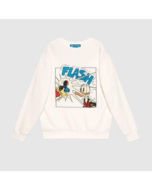 Gucci 【公式】 (グッチ)disney(ディズニー)x コットン スウェットシャツホワイトホワイト Multicolor