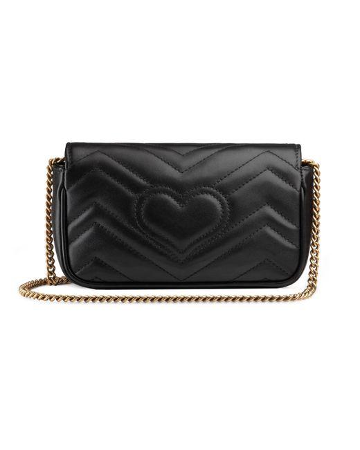 Mini borsa GG Marmont di Gucci in Black