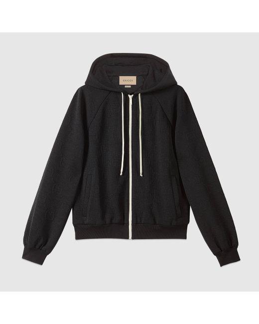 Gucci 【公式】 (グッチ)GG ジャージージャカード ジャケットブラックブラック Black