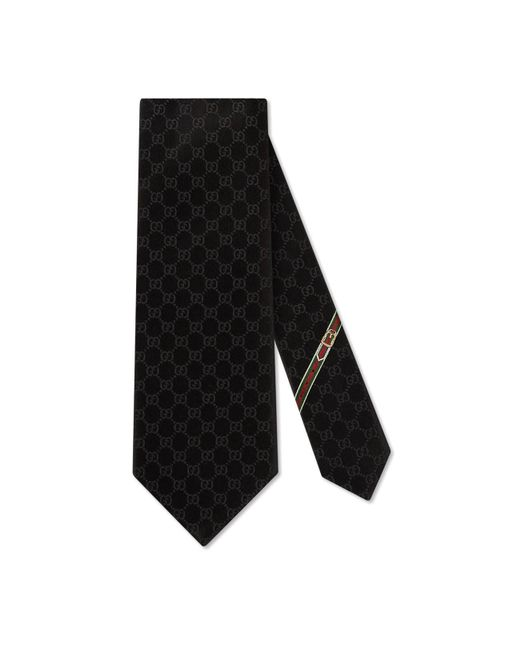 Gucci Black Gg Pattern Tie for men