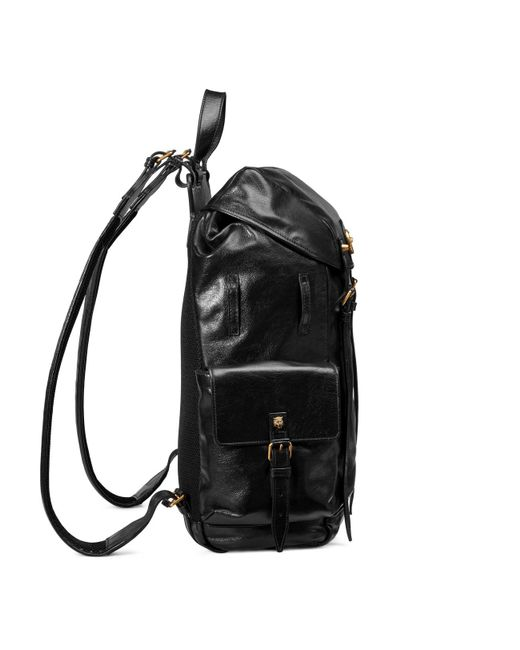 f3cd3d56ac78 ... Gucci - Black Re(belle) Leather Backpack for Men - Lyst ...