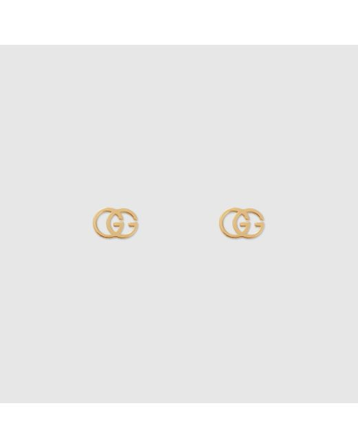 Gucci 【公式】 (グッチ)GGスタッズ ピアス18k イエローゴールドゴールド Metallic