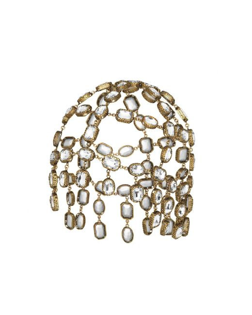 ae33cce5bd2 Gucci - White Headpiece With Crystals - Lyst ...