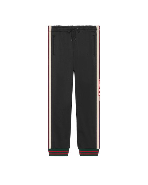 Gucci - Black Technical Jersey Pant for Men - Lyst