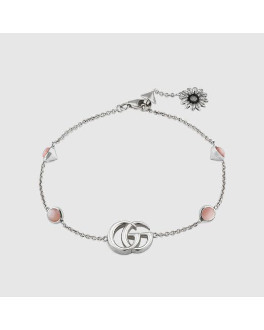 Gucci 【公式】 (グッチ)ダブルg フラワー ブレスレットスターリングシルバーundefined Multicolor