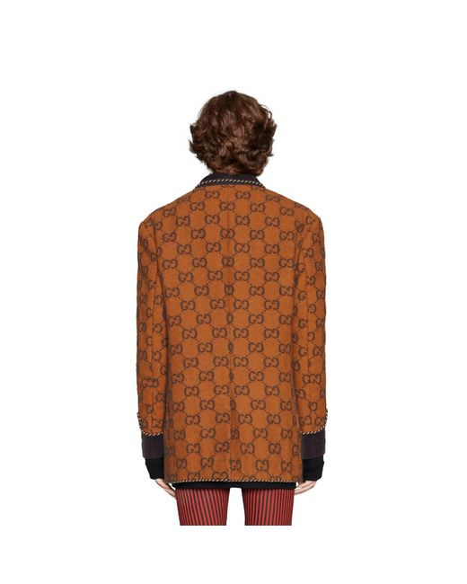 817d8b5f44513 ... Gucci - Multicolor GG Flannel Jacket for Men - Lyst ...
