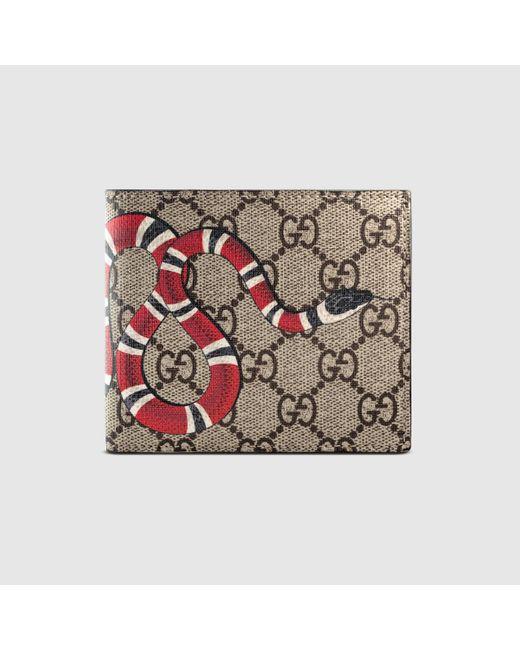 メンズ Gucci 【公式】 (グッチ)スネーク プリント GGスプリーム キャンバス コインウォレットGGスプリーム キャンバスベージュ Multicolor