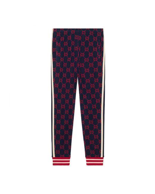 Pantalón de Chándal de Jacquard GG Gucci de hombre de color Blue
