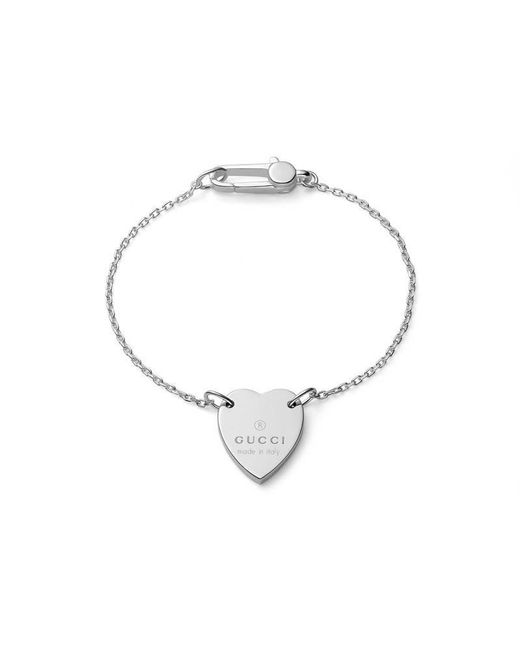 Gucci - Metallic Bracelet With Trademark Heart - Lyst